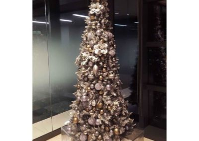 Sample of silver interior decorated tree