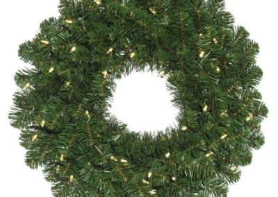 Pre-lit Oregon fir wreath